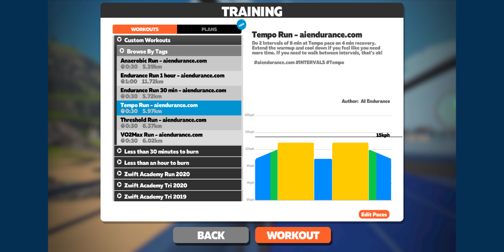 How to use Zwift running workouts to increase your pace